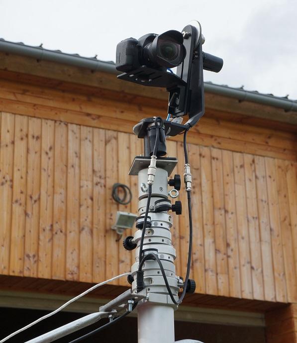 thermographie semi aérienne camera infrarouge sur mat téléscopique